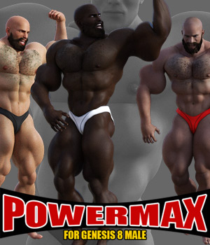Power MAX for Genesis 8 Male 3D Figure Assets powerage