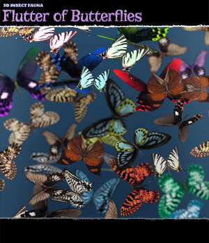 3D Insect Fauna: Flutter of Butterflies - Extended License 3D Models Extended Licenses ShaaraMuse3D