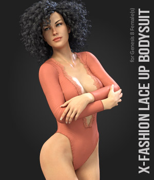 X-Fashion Lace Up Bodysuit for Genesis 8 Female  3D Figure Assets xtrart-3d