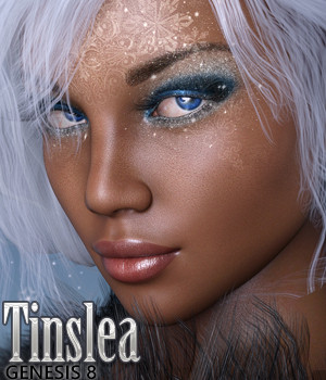3DSS Tinslea for Genesis 8 Female 3D Figure Assets Silver