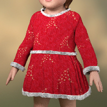 Lil Santa Dress for Sixus1 The Baby G8F image 1