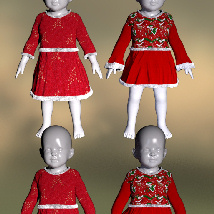 Lil Santa Dress for Sixus1 The Baby G8F image 4