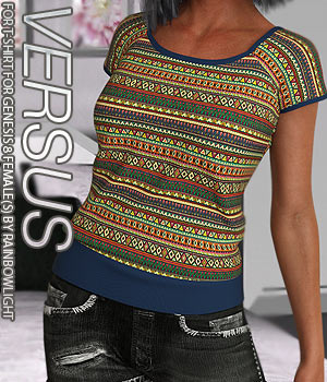 VERSUS - T-shirt for Genesis 8 Female 3D Figure Assets Anagord