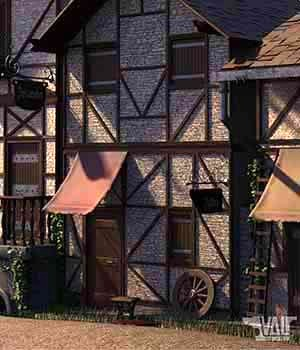 Old Town Alley Environment 3D Models Val3dArt