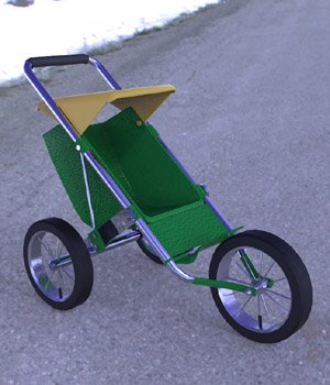 Stroller 2 - for DAZ Studio 3D Models Digimation_ModelBank