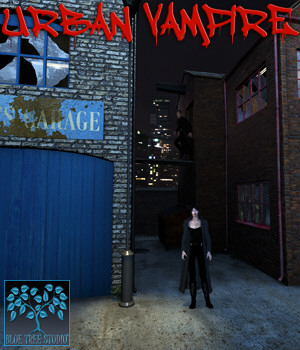 Urban Vampire for Poser 3D Models BlueTreeStudio