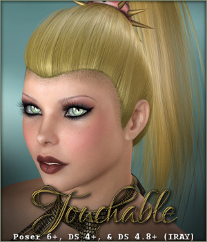 Touchable Xtreme Ponytail 3D Figure Assets -Wolfie-