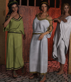 dForce Chiton and Toga for Genesis 3 Female and Genesis 8 Female 3D Figure Assets Deacon215
