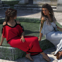 dForce Chiton and Toga for Genesis 3 Female and Genesis 8 Female image 2
