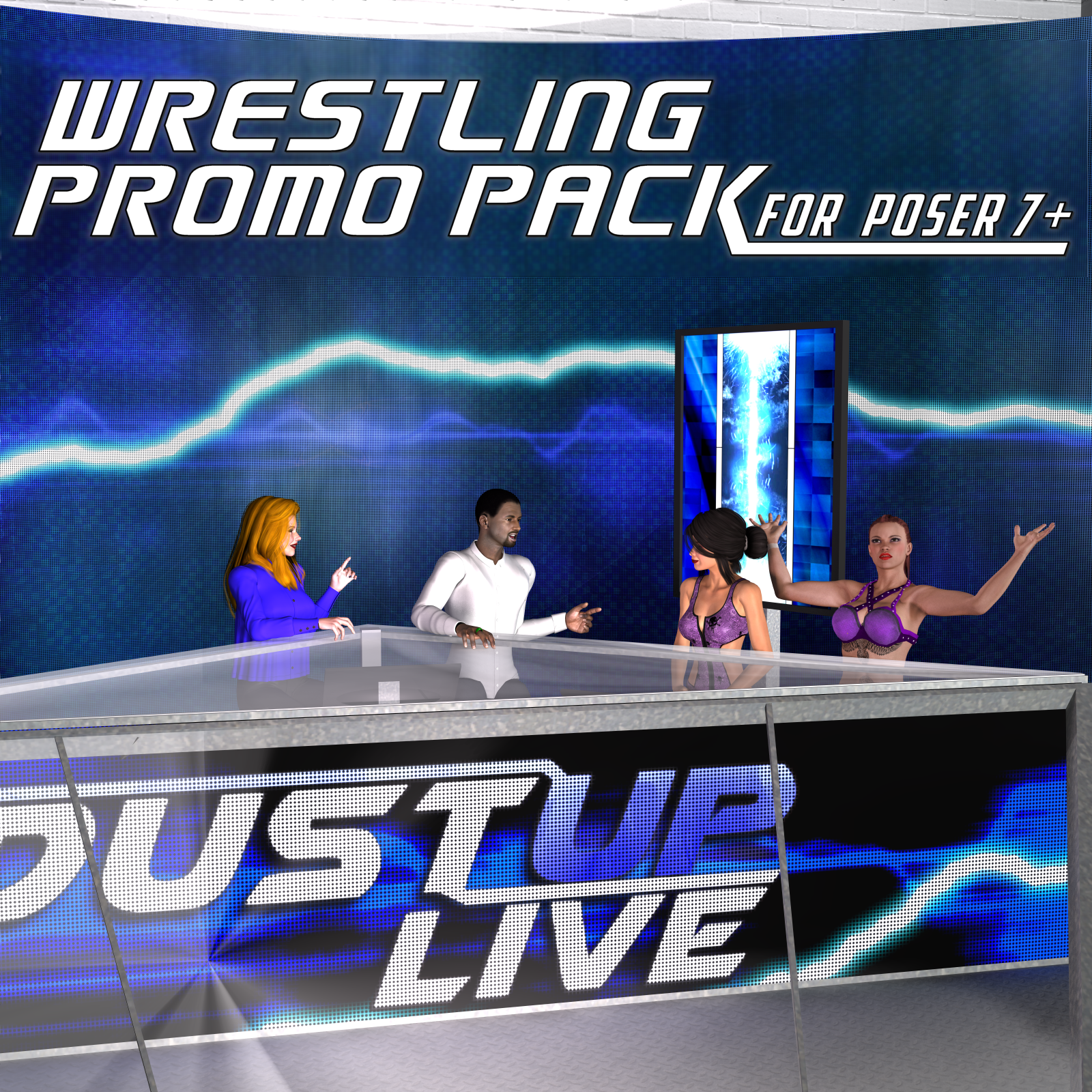 Pro Wrestling Promo Pack for Poser 7+