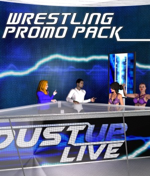 Pro Wrestling Promo Pack for Poser 7+ 3D Models DexPac