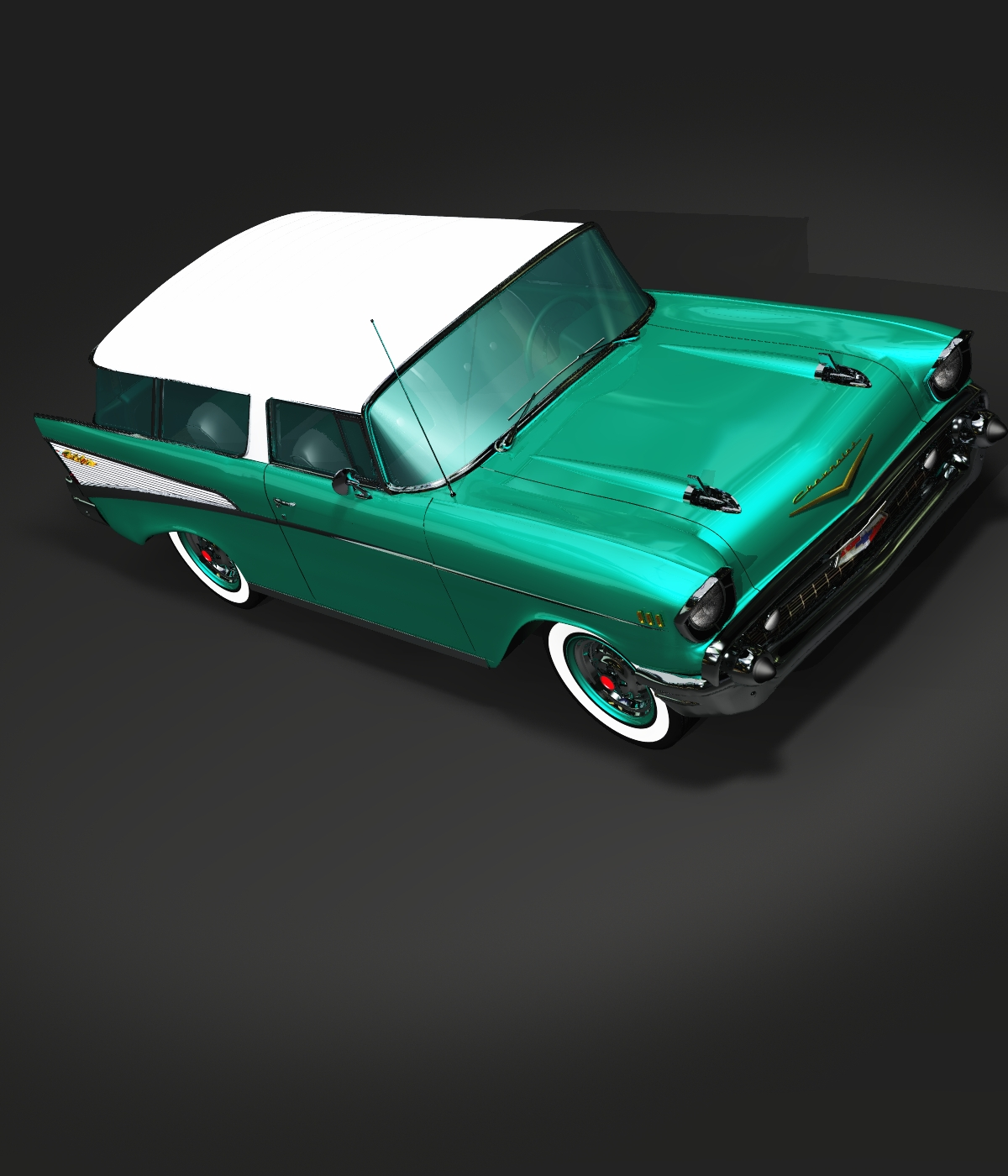 CHEVROLET NOMAD 1957 -OBJ FBX- EXTENDED LICENSE