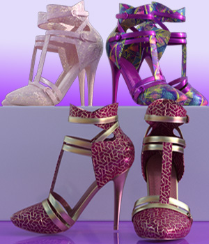 Charm Tracy Heels 3D Figure Assets crender