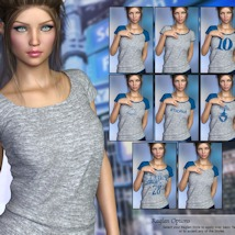 7th Ave: T-Shirt for Genesis 8 Females image 6