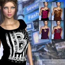 7th Ave: T-Shirt for Genesis 8 Females image 7
