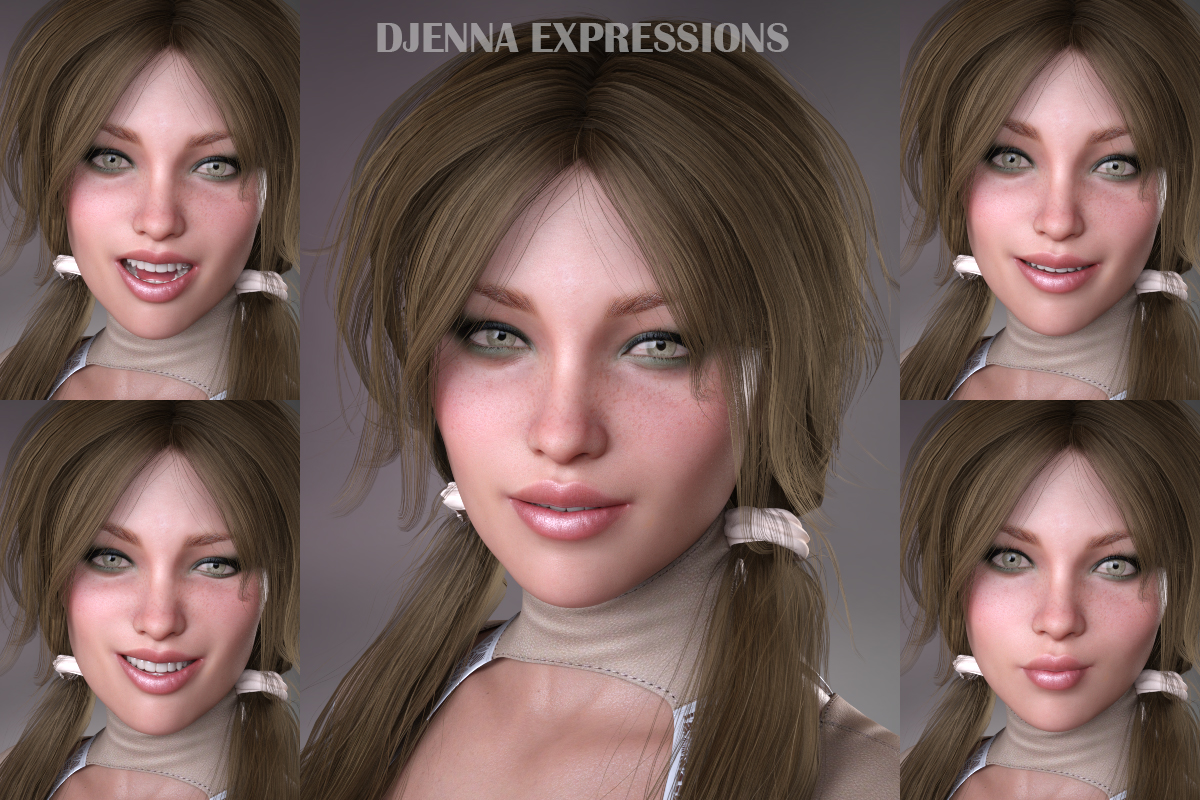 Djenna Expressions for GDN Djenna & Genesis 8 Female