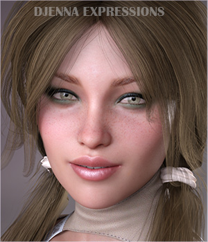 Djenna Expressions for GDN Djenna & Genesis 8 Female by Godin