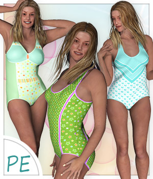 Bathingsuit for Project Evolution - Poser 3D Figure Assets karanta