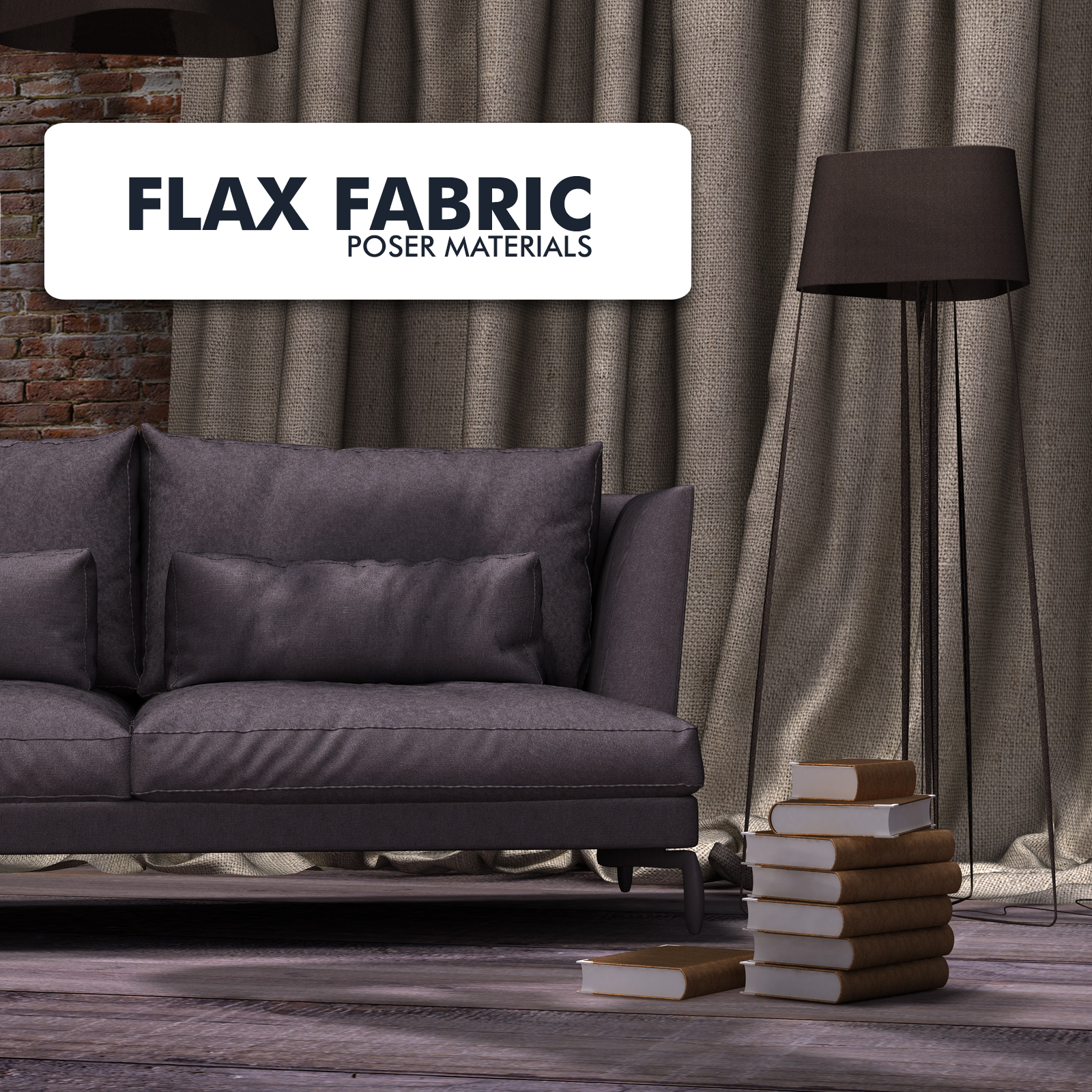 Flax Fabric  :: Poser Materials