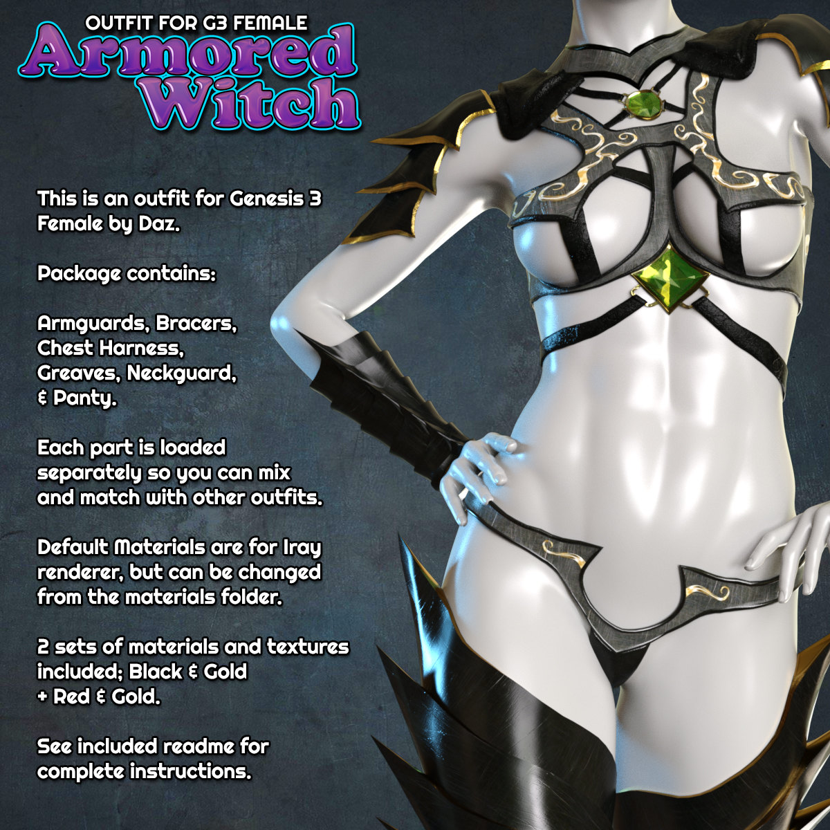 Exnem Armored Witch for G3 Female