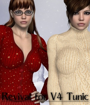 Revival for V4 Tunic_Poser 3D Figure Assets JudibugDesigns