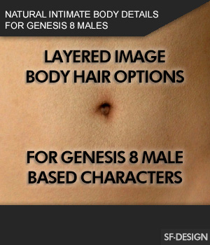 Natural Intimate Body Details for Genesis 8 Males 3D Figure Assets SF-Design