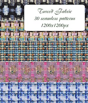 Tweed Fabric - Seamless Patterns 2D Graphics Merchant Resources romawka