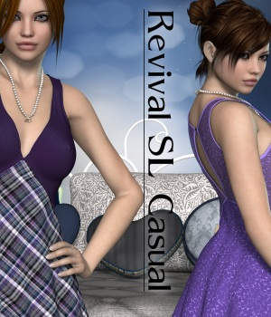 Revival for SL Casual V4_Poser 3D Figure Assets JudibugDesigns