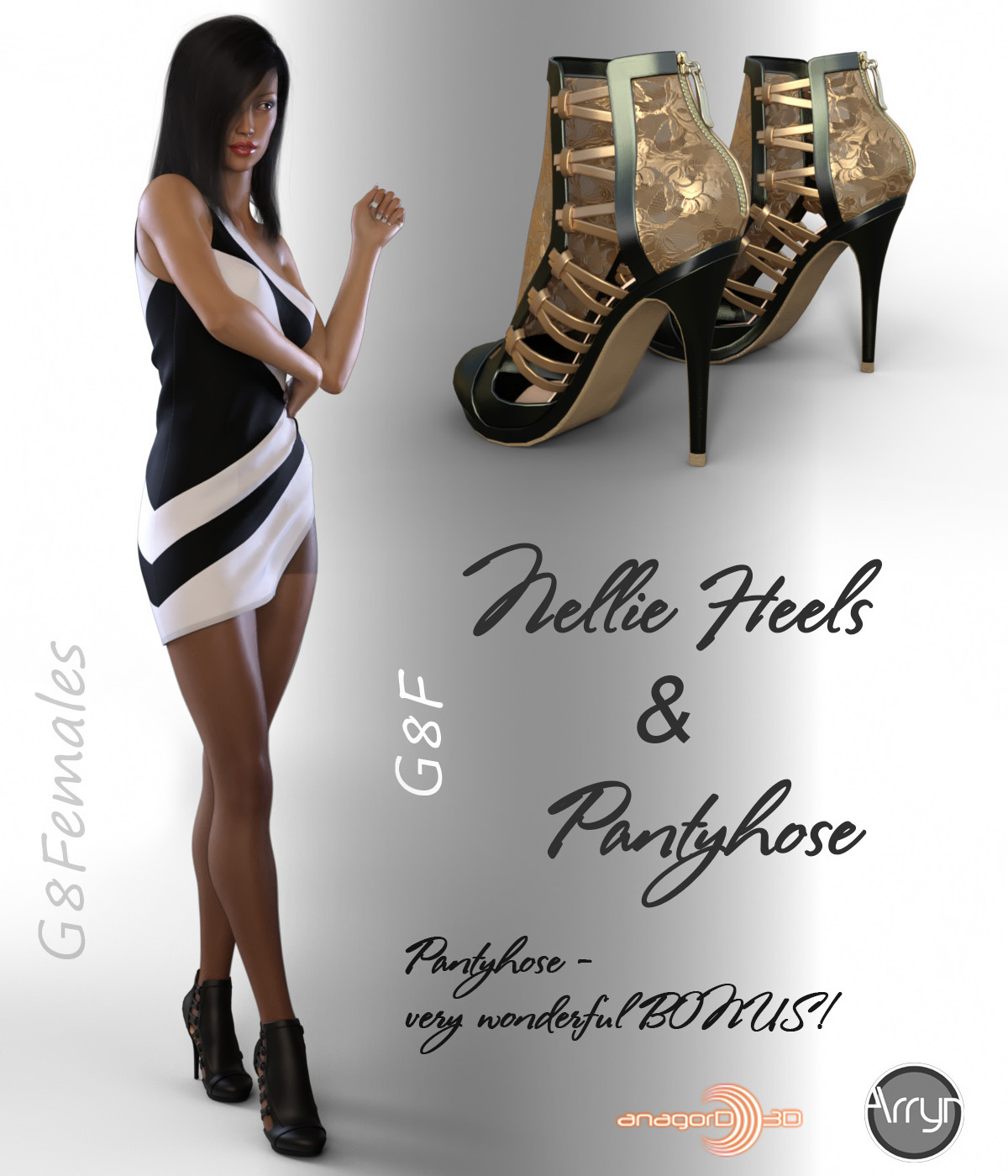 Nellie Heels and Pantyhose G8F