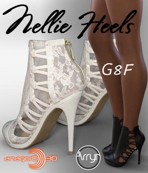 Nellie Heels and Pantyhose G8F 3D Figure Assets Arryn