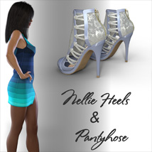 Nellie Heels and Pantyhose G8F image 2