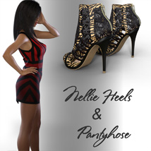 Nellie Heels and Pantyhose G8F image 4