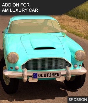Add On for AM Luxury Car for Daz by Vanishing Point 3D Figure Assets SF-Design