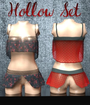 Hollow Set for G3F / G8F 3D Figure Assets chasmata