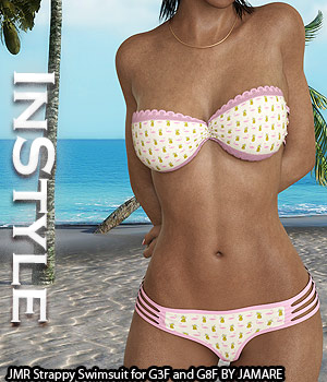 InStyle - JMR Strappy Swimsuit for G3F and G8F 3D Figure Assets -Valkyrie-