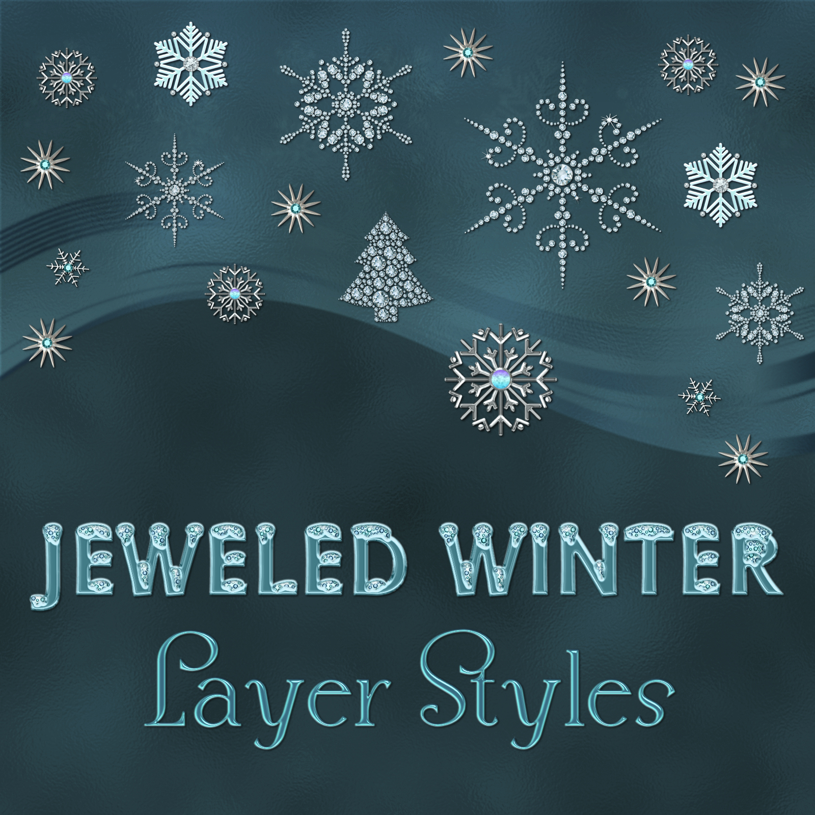 Jeweled Winter PS Layer Styles