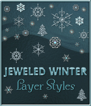 Jeweled Winter PS Layer Styles 2D Graphics Merchant Resources fractalartist01