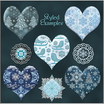 Jeweled Winter PS Layer Styles image 1