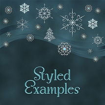 Jeweled Winter PS Layer Styles image 4