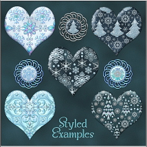 Jeweled Winter PS Layer Styles image 5