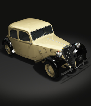 CITROEN TRACTION 1938 OBJ FBX - EXTENDED LICENSE 3D Game Models : OBJ : FBX 3D Models Extended Licenses 3DClassics