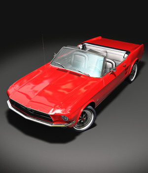 DROP TOP FORD MUSTANG 1967 OBJ FBX extended license 3D Game Models : OBJ : FBX 3D Models Extended Licenses 3DClassics