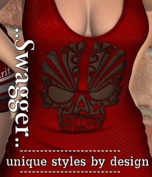 Swagger for Micro Dress V4_Poser 3D Figure Assets JudibugDesigns