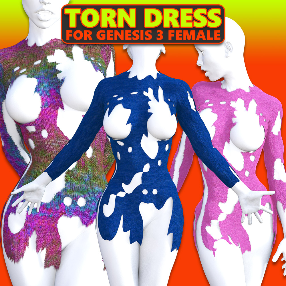 Torn Dress for G3 females by powerage