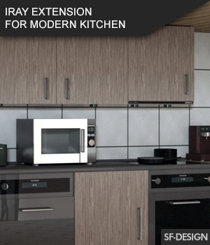Iray Material Extension for Modern Kitchen 3D Figure Assets SF-Design