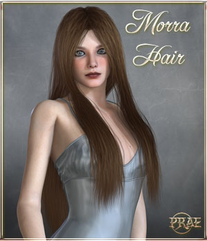 Prae-Morra Hair For V4/M4 Poser 3D Figure Assets prae