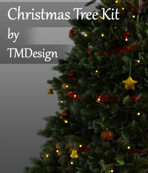 Christmas Tree Kit for Daz Studio Iray 3D Models TMDesign