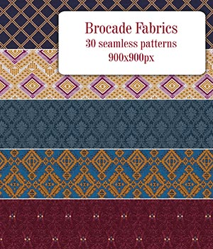 Brocade Fabric - Seamless Patterns 2D Graphics Merchant Resources romawka