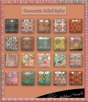 Geometric relief styles 2D Graphics Merchant Resources Perledesoie