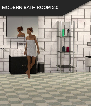 Modern Bathroom 2.0 for Daz Studio 3D Models SF-Design